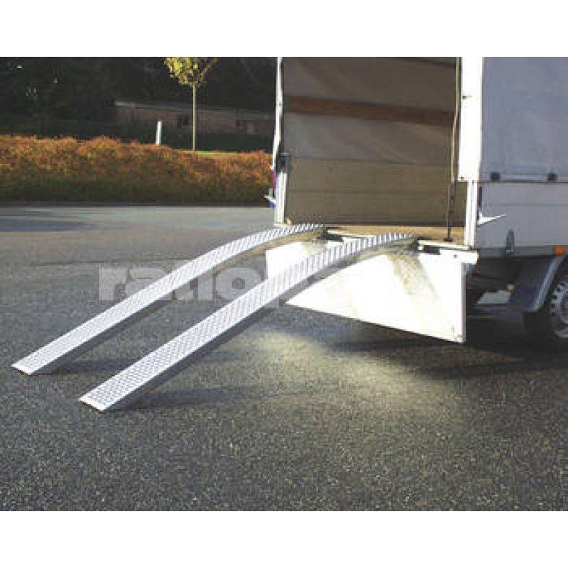 Sicherheits-Auffahrrampen - gebogen - 2000 mm lang / 200 mm breit